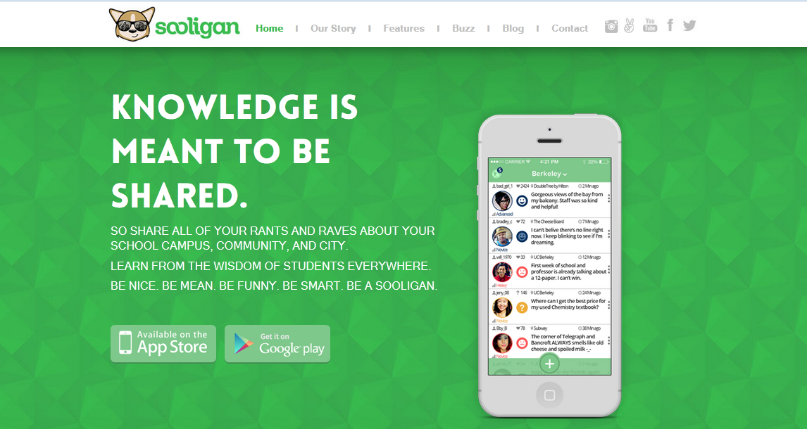 Sooligan Website Screenshot